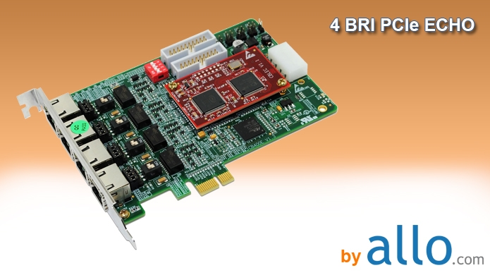 ISDN BRI 4 ports PCIe with ECHO