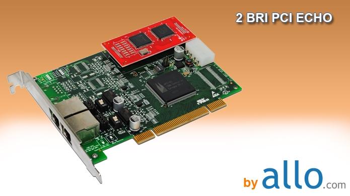 ISDN BRI 2 ports PCI with ECHO