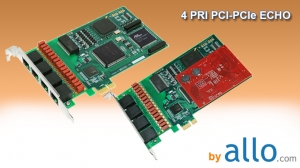 ISDN PRI 4 ports PCI & PCIe